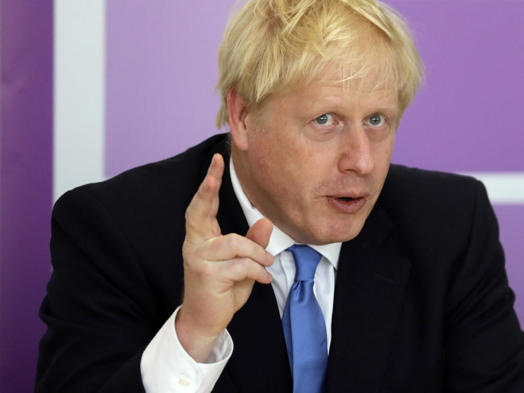 Britain's Prime Minister Boris Johnson cannot help his girlfriend out of this pickle. Picture: AP