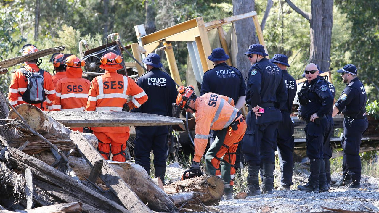Extensive searches of the area around where William disappeared have been carried out. Picture: AAP Image/Peter Lorimer