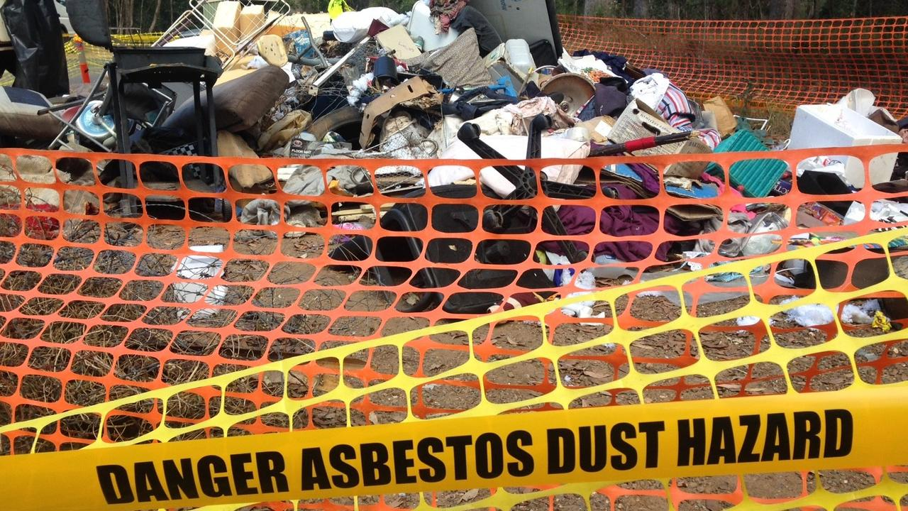Council is investigating and says it hopes to prosecute those responsible for the illegal dumping of asbestos in the region. Photo: Adios Asbestos