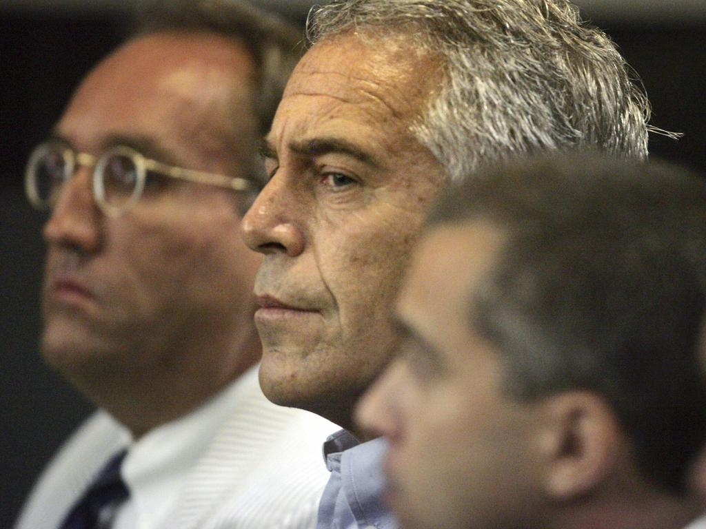 Jeffrey Epstein appears in court in West Palm Beach, Florida in 2008. Picture: AP