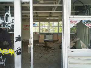 Abandoned Ipswich School vandalised