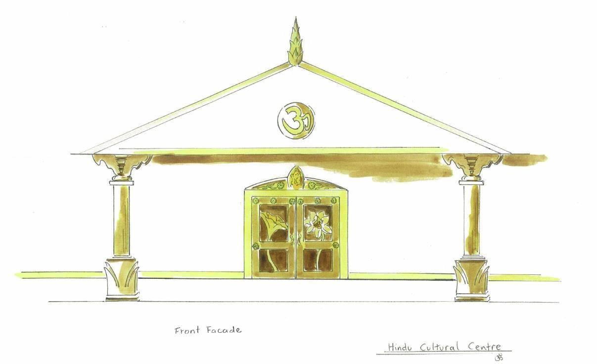 Design plans for Hindu Temple to be located in Rockhampton.