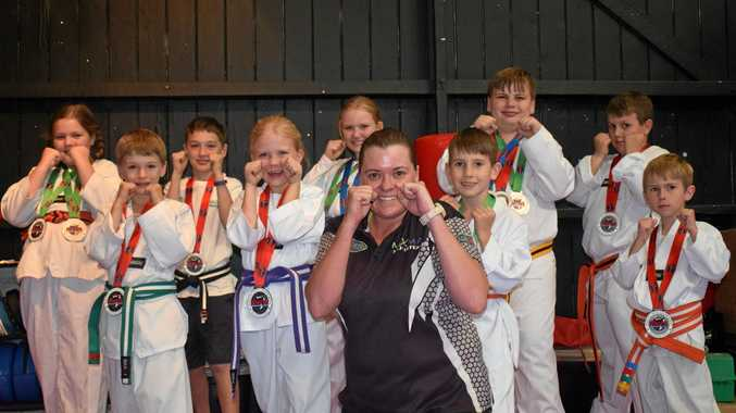 Karate kids kick down competition at first ever tournament