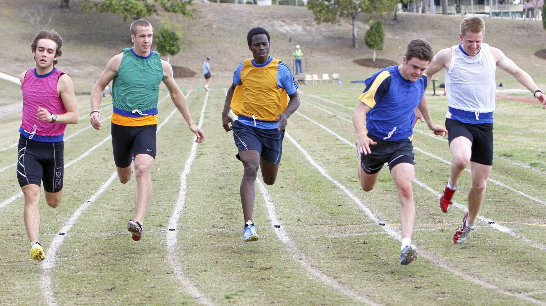 Men's Lightning Gift at the Ipswich athletics carnival on Sunday. Photo: Sarah Harvey/ The Queensland Times IPS280811ATH28G
