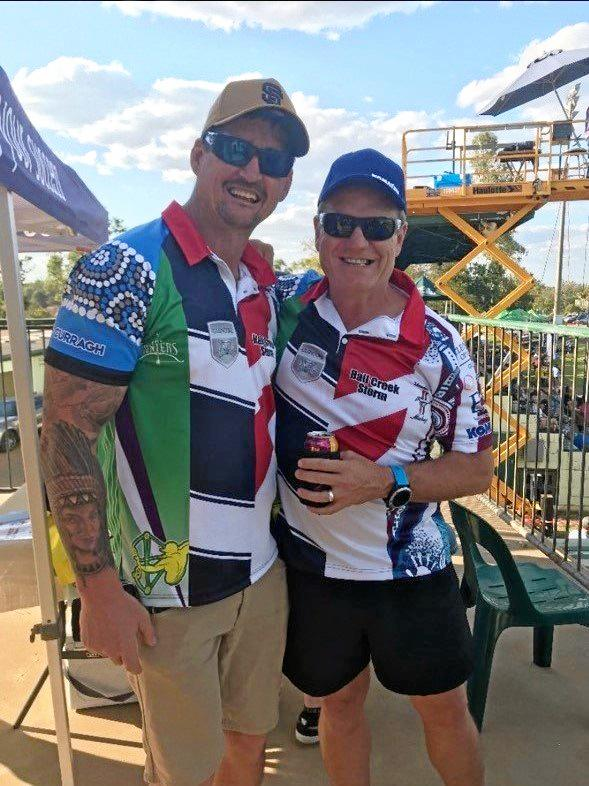 HERE FOR OTHERS: Clermont Battle of the Mines co-organiser Justin Barrett and his boss, Dawid Pretorius, who helped reinvigorate the annual event.