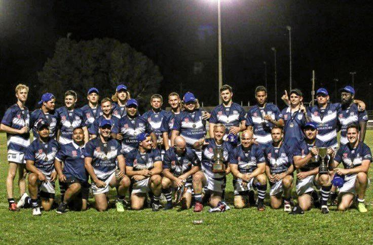 Clermont Battle of the Mines 2018 mens' winners Oaky Creek Gladiators.