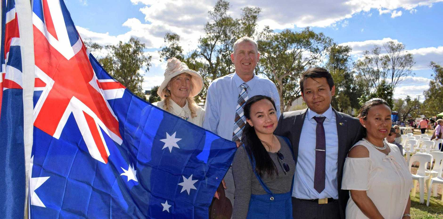 PROUD AUSSIES: Janet and Mervin Penrose, Jaya Belle and Carlyle Maniling and Rizza Lumague-Penrose celebrated