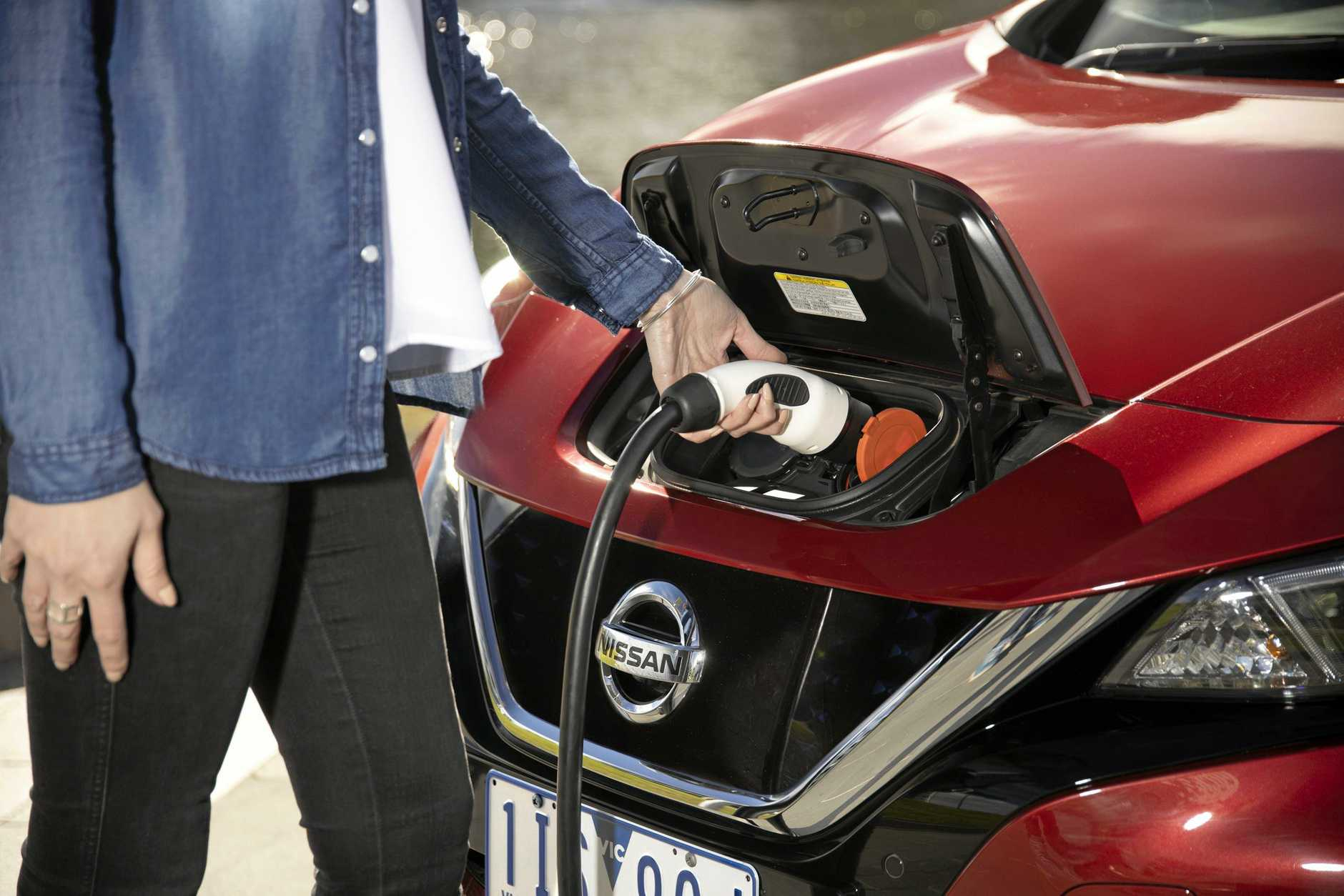 The 2019 model Nissan Leaf has a real-world range of more than 240km from one charge.