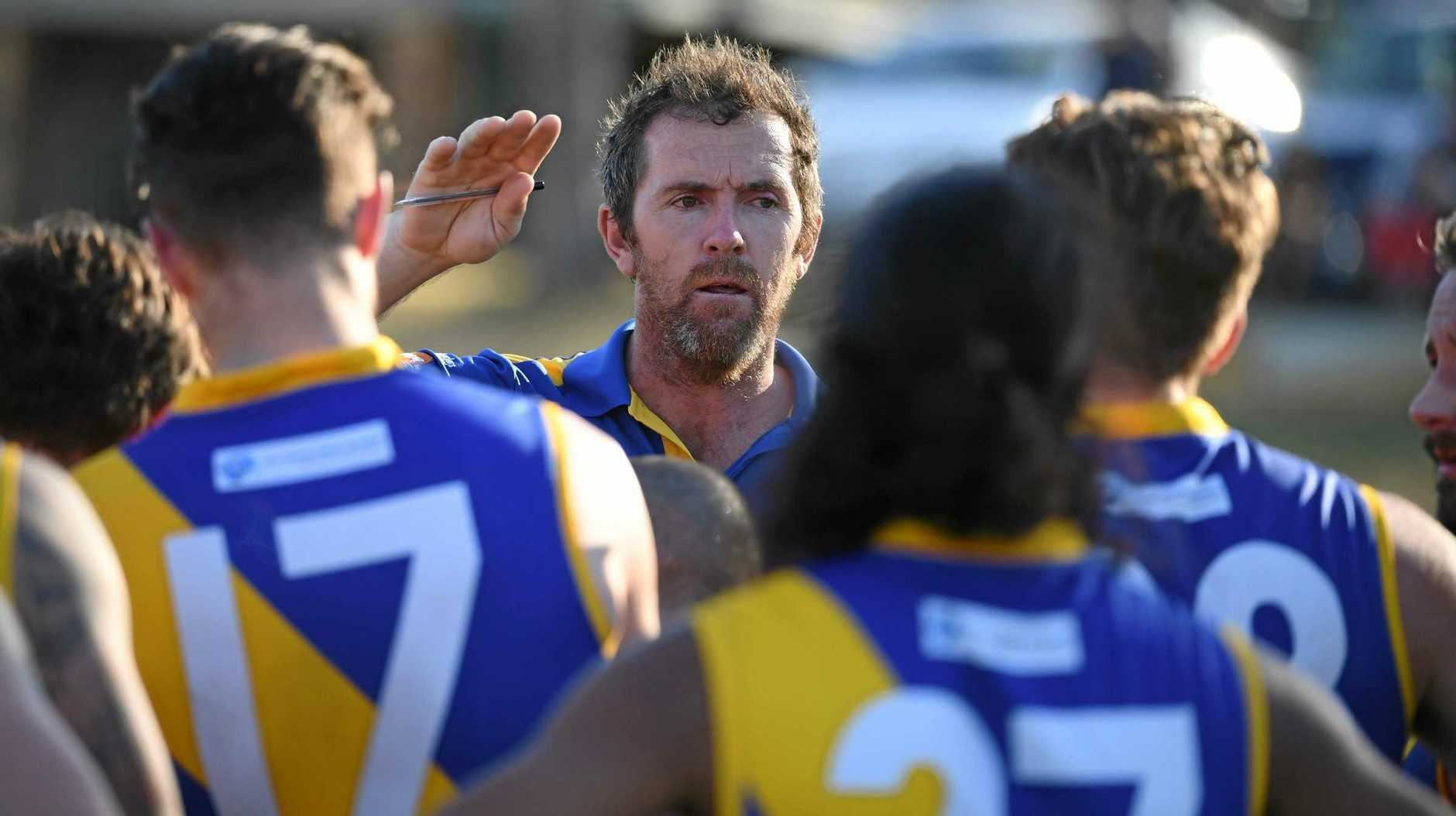 NEVER GIVE UP: Ipswich Eagles coach Kym Mansell.