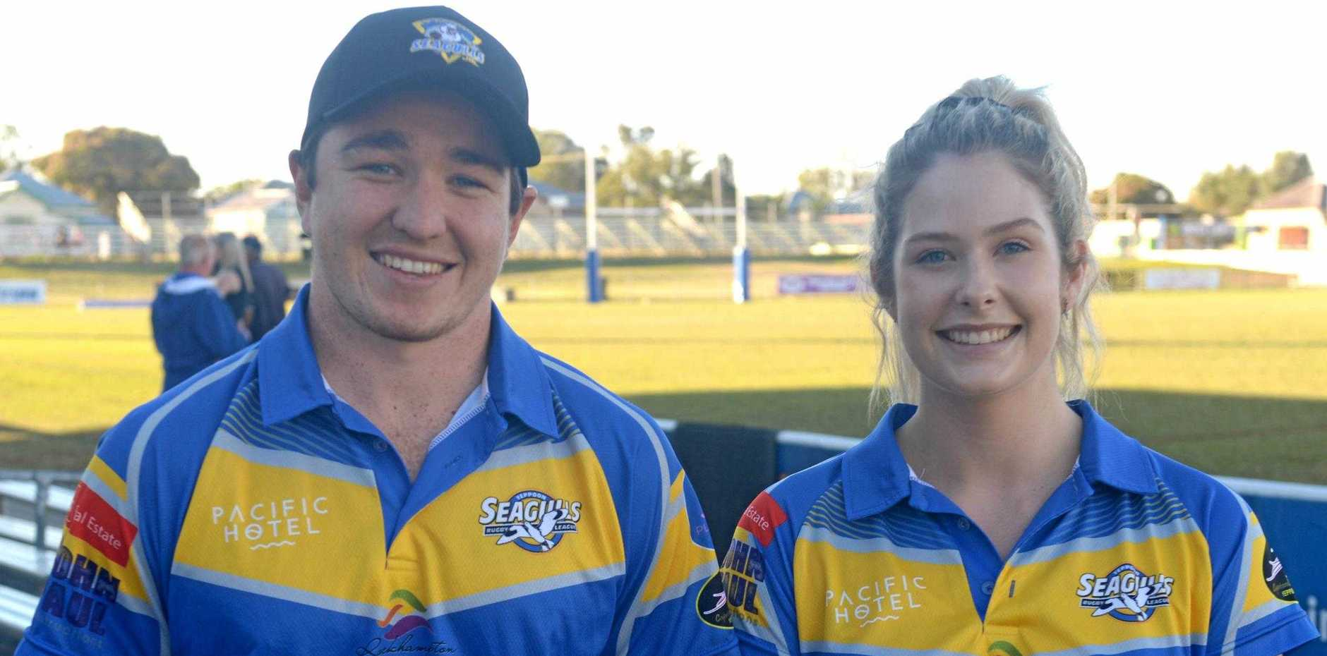 GAME ON! Cousins Sam Holzheimer and Meg Neven will captain the Yeppoon men's and women's teams in this weekend's rugby league grand finals at Browne Park.
