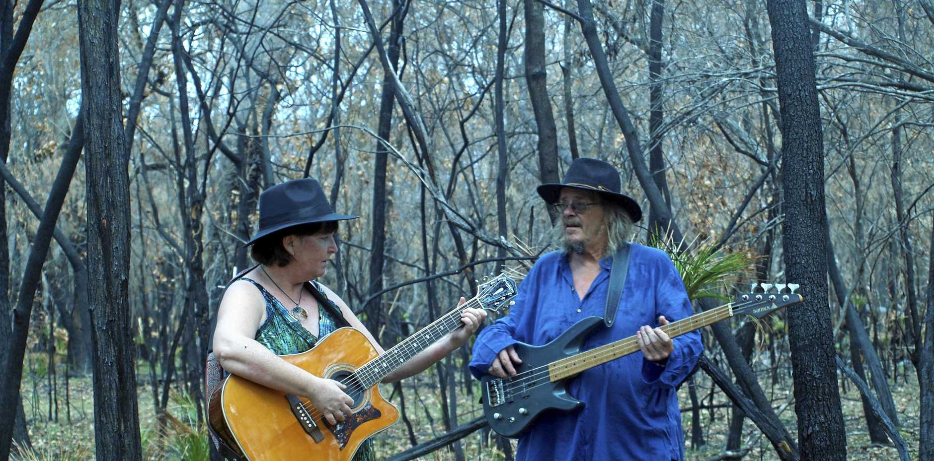 CREATIVE SPARK: Agnes Water duo Leah Chynoweth-Tidy and Ken Tidy will premiere their two music videos next month.