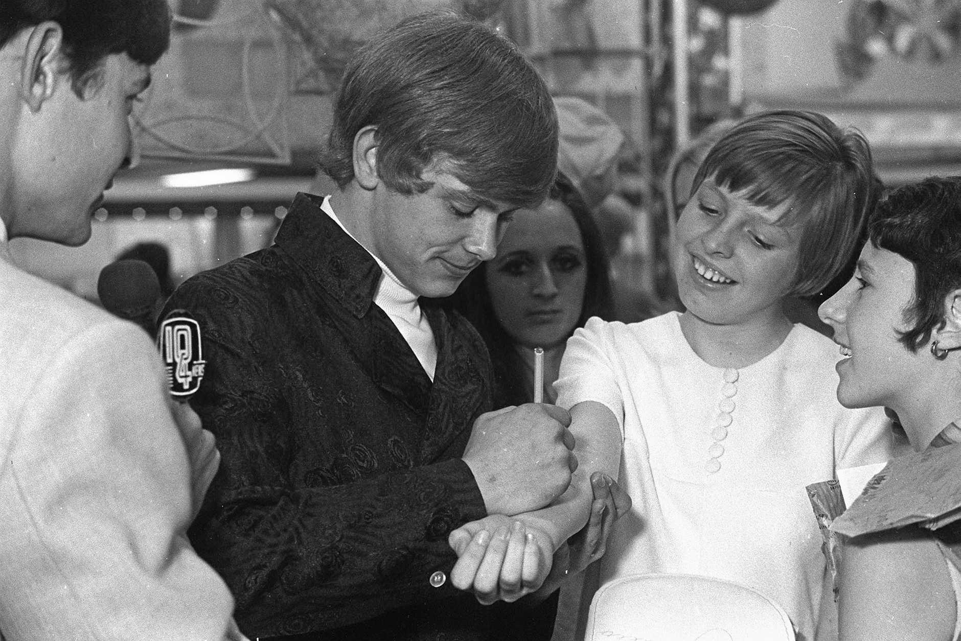 John Farnham in Toowoomba for The Carnival of Flowers in 1968