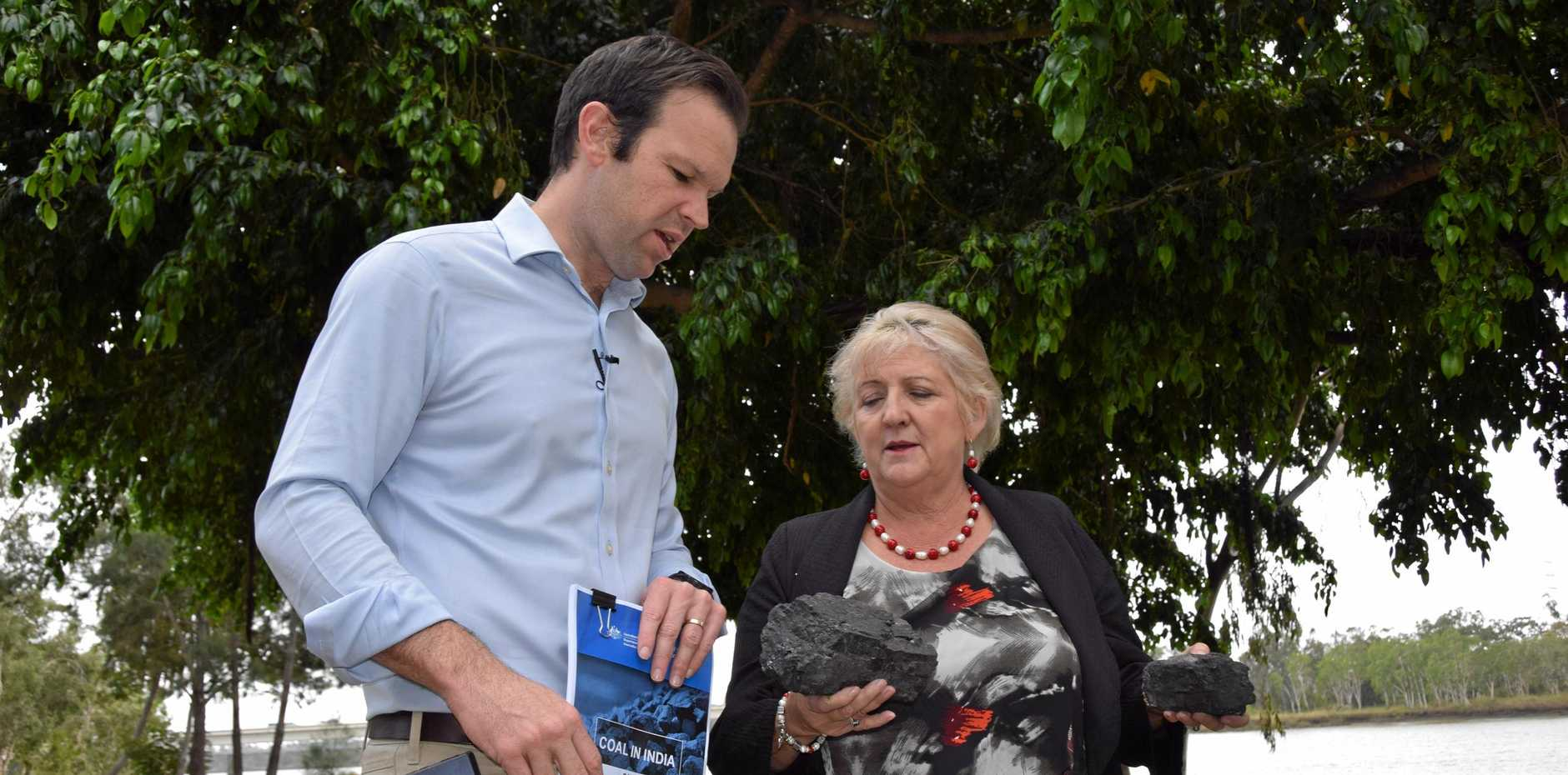 Resource Minister Matt Canavan and Capricornia MP Michelle Landry