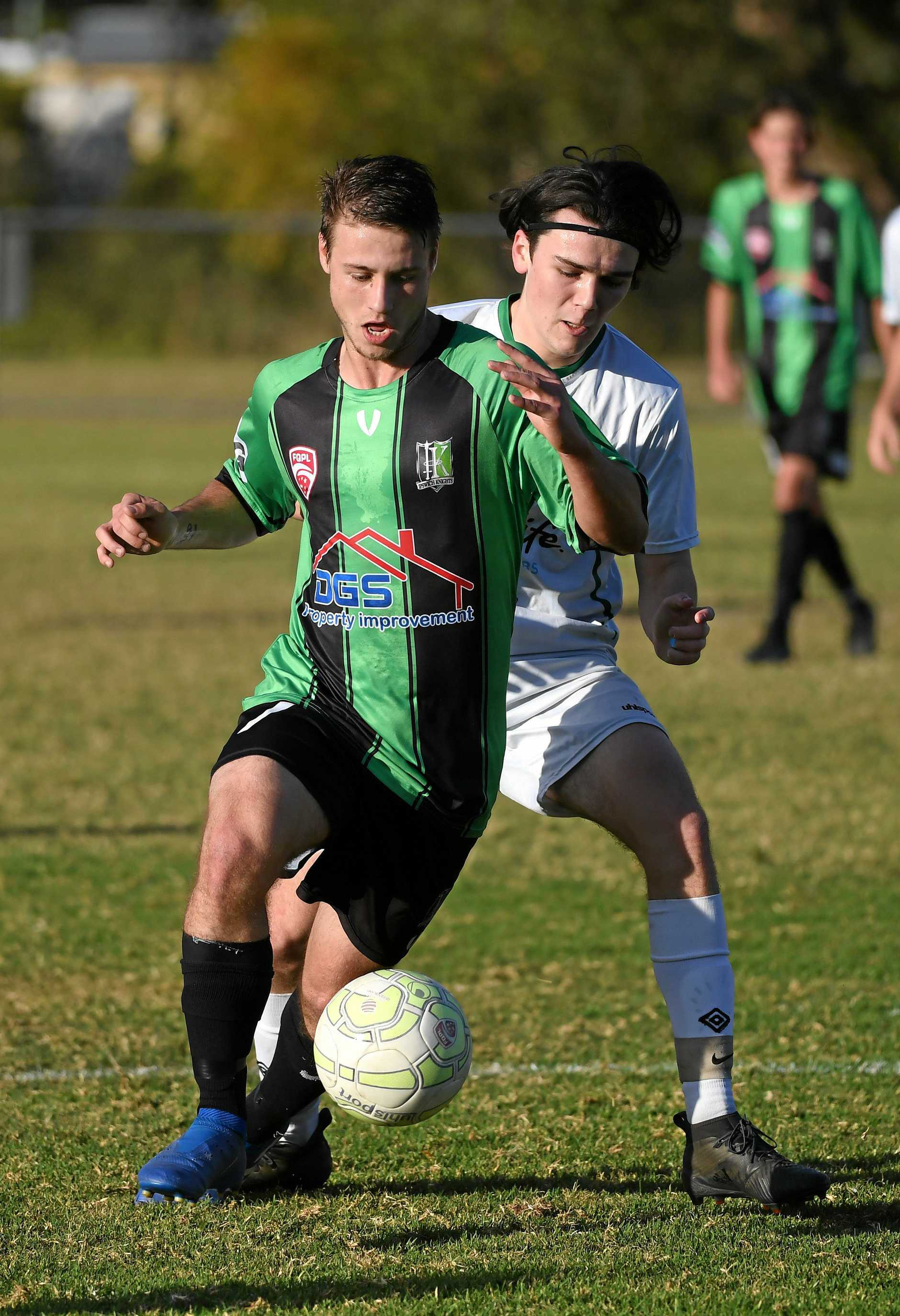 QPL U20 soccer match between Ipswich Knights and Southside Eagles played at the Ipswich Knights home ground in Bundamba. Mathew Drummond.