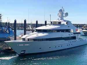 Mystery superyacht slips in to Mackay Harbour
