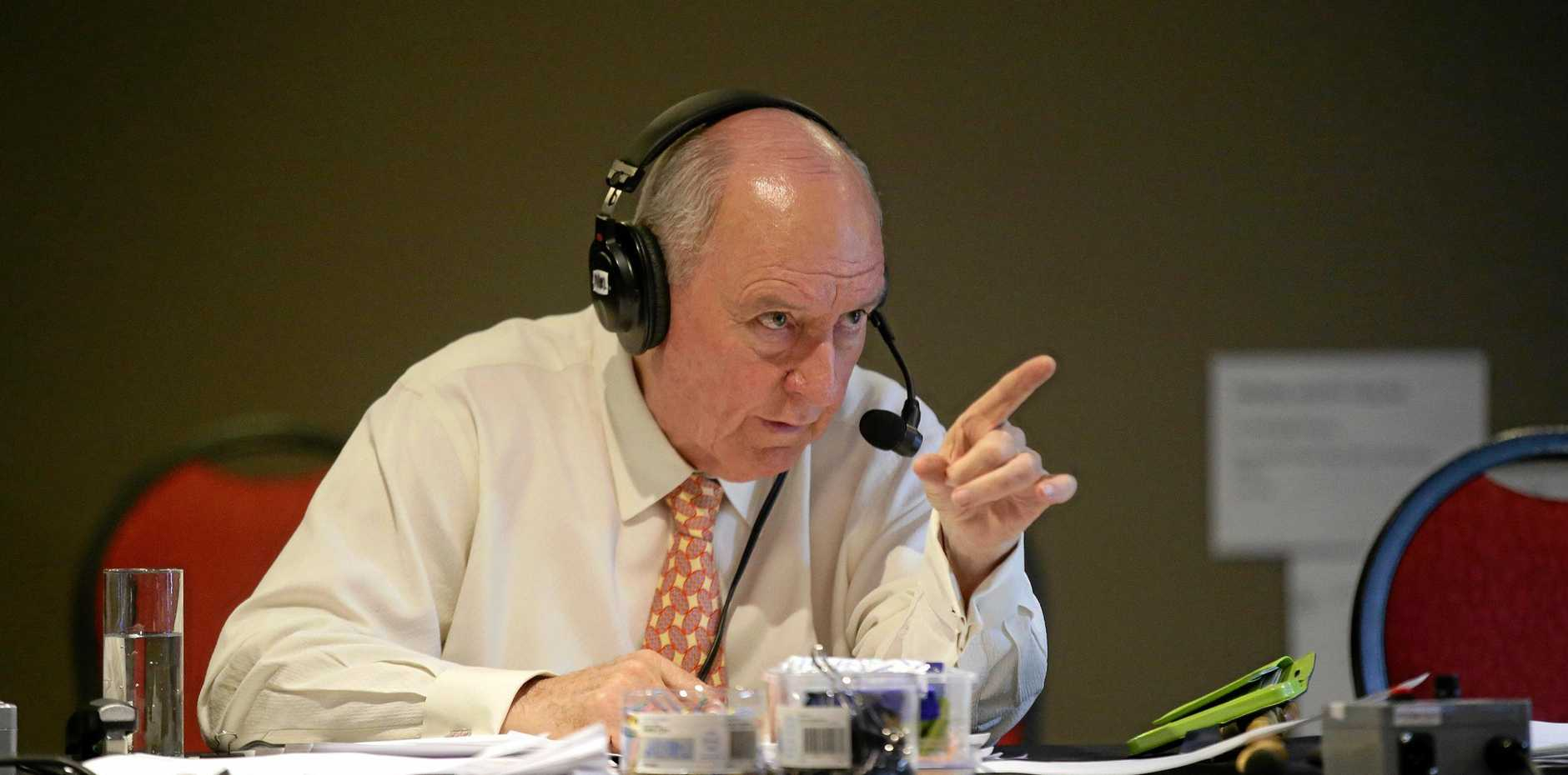 A DAY IN THE LIFE: Alan Jones courts controversy as part of his job as a shock jock.