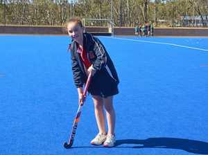 Ella Hagenbach shows off her best trick shot
