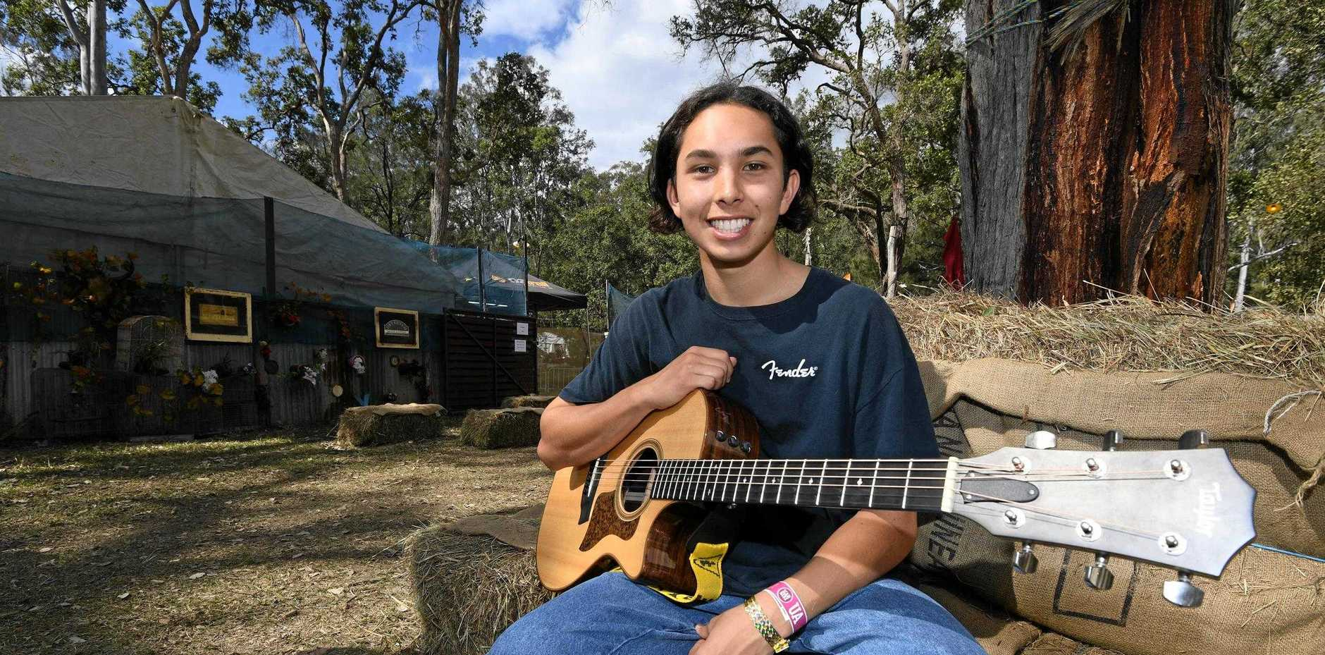 TALENT SEARCH: Tyler Hammill at the 2019 Gympie Muster.