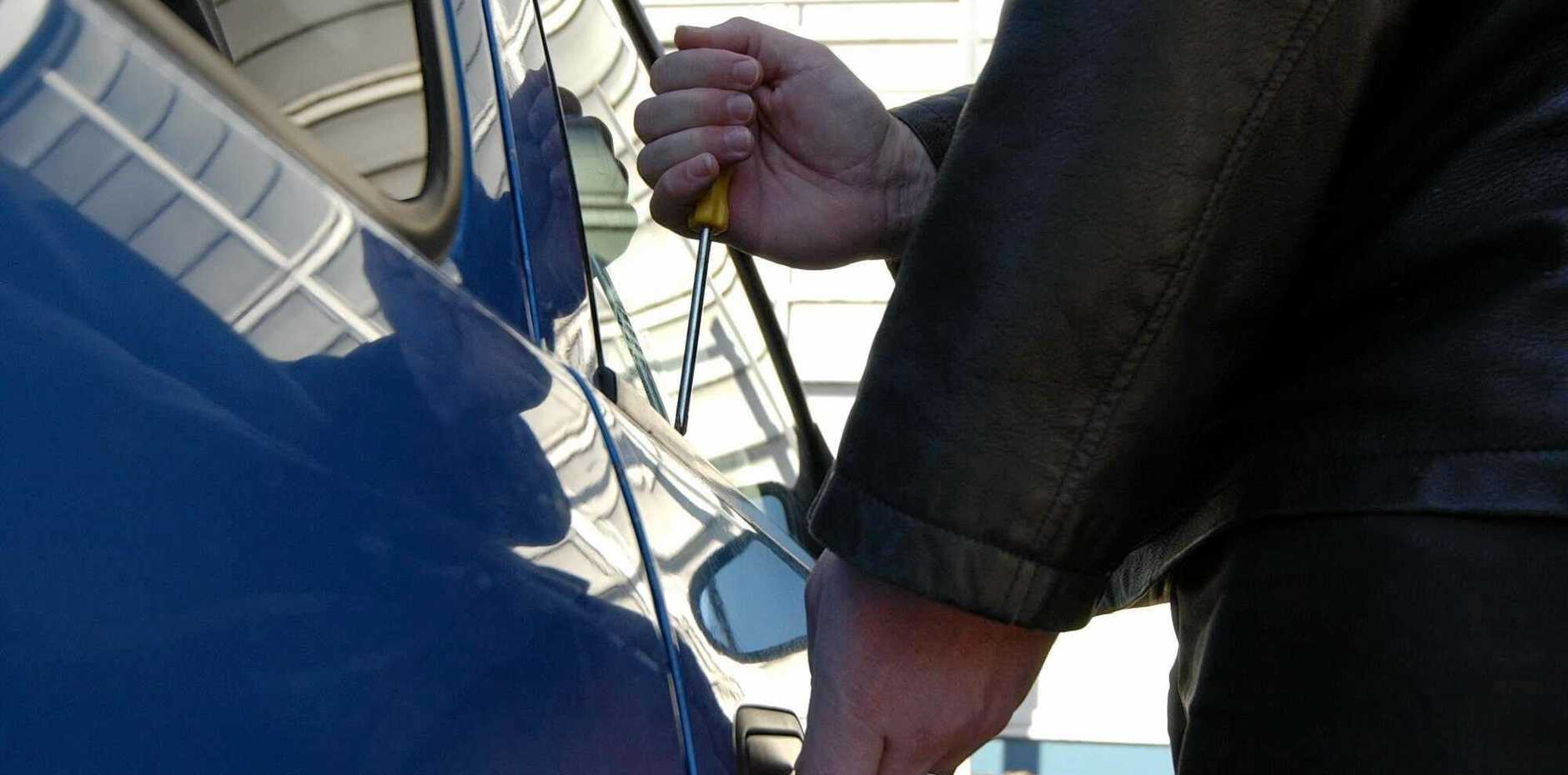 Since July 1, Gympie police have had 18 reports of offenders stealing from vehicles, some overnight but some in broad daylight.