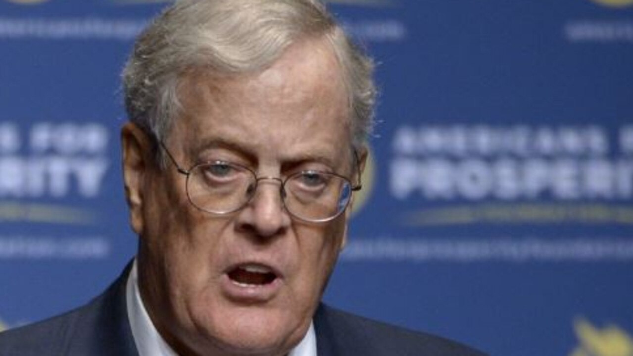 Republican donor and billionaire David Koch has died. Picture: AP