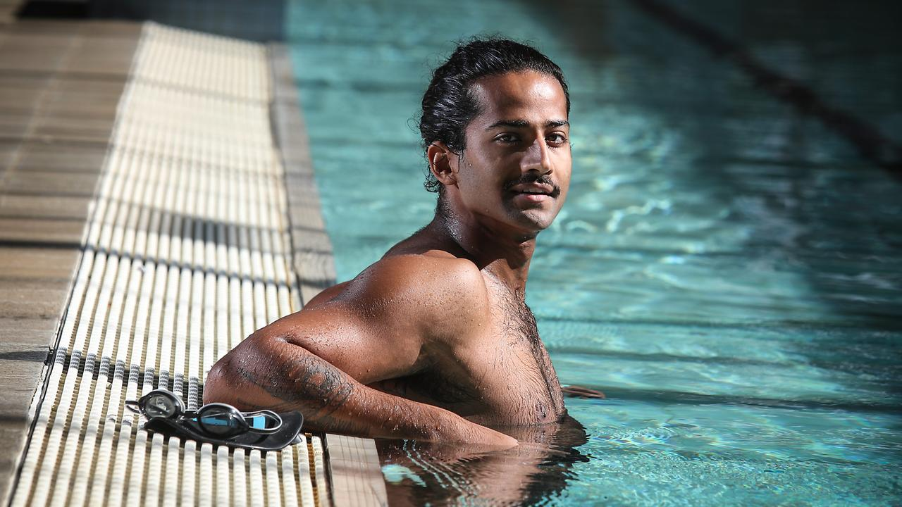 Abhishek Malik is a tongue cancer survivor and will swim across the English Channel this week to raise money. Picture: AAP/Carmela Roche