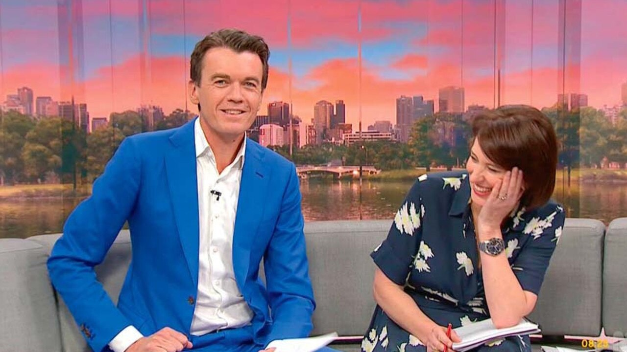 ABC News Breakfast hosts Michael Rowland and Virginia Trioli.