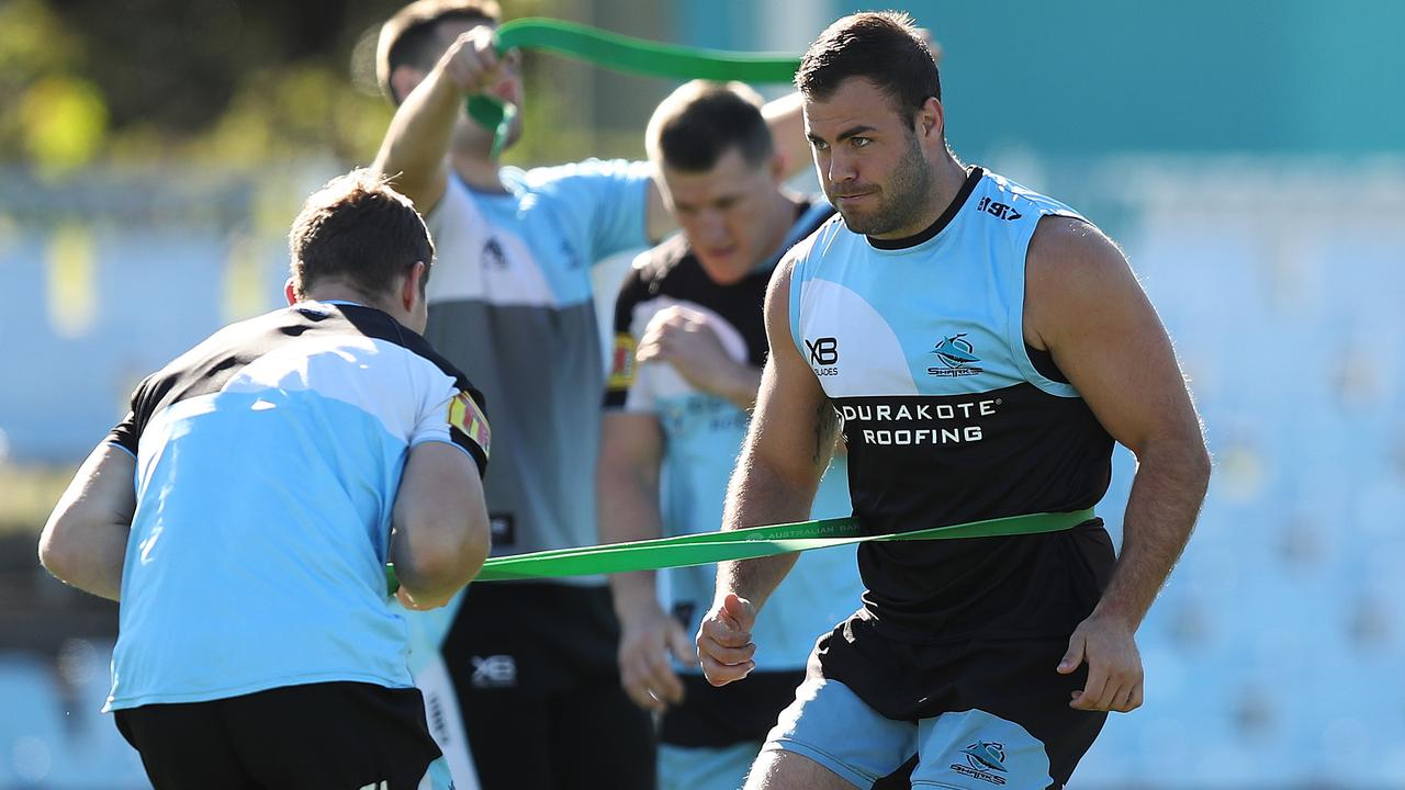 Cronulla's Wade Graham is returning to full fitness. Picture: Brett Costello