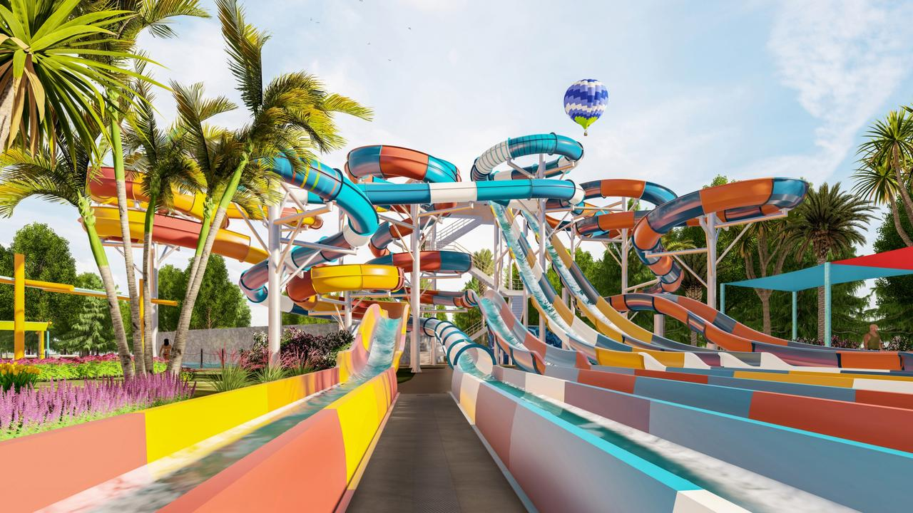 Dreamworld will on Friday reveal details of six new water slides planned for WhiteWater World.