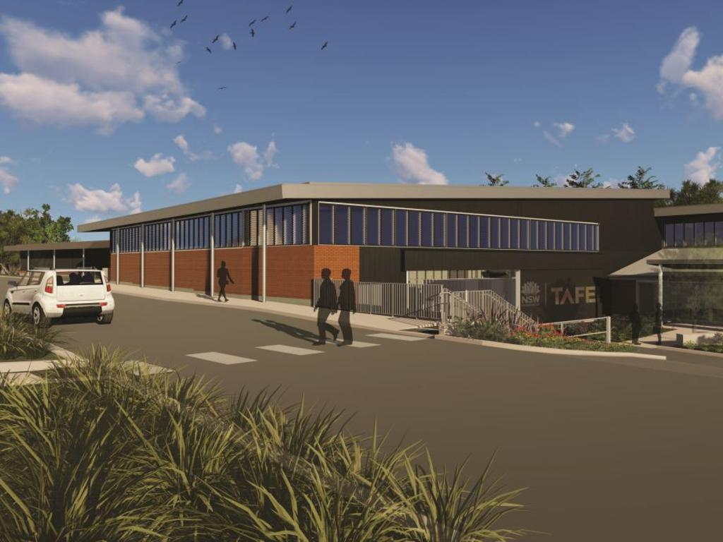 The $10 million trades training hub planned for the Coffs Harbour Education Campus.
