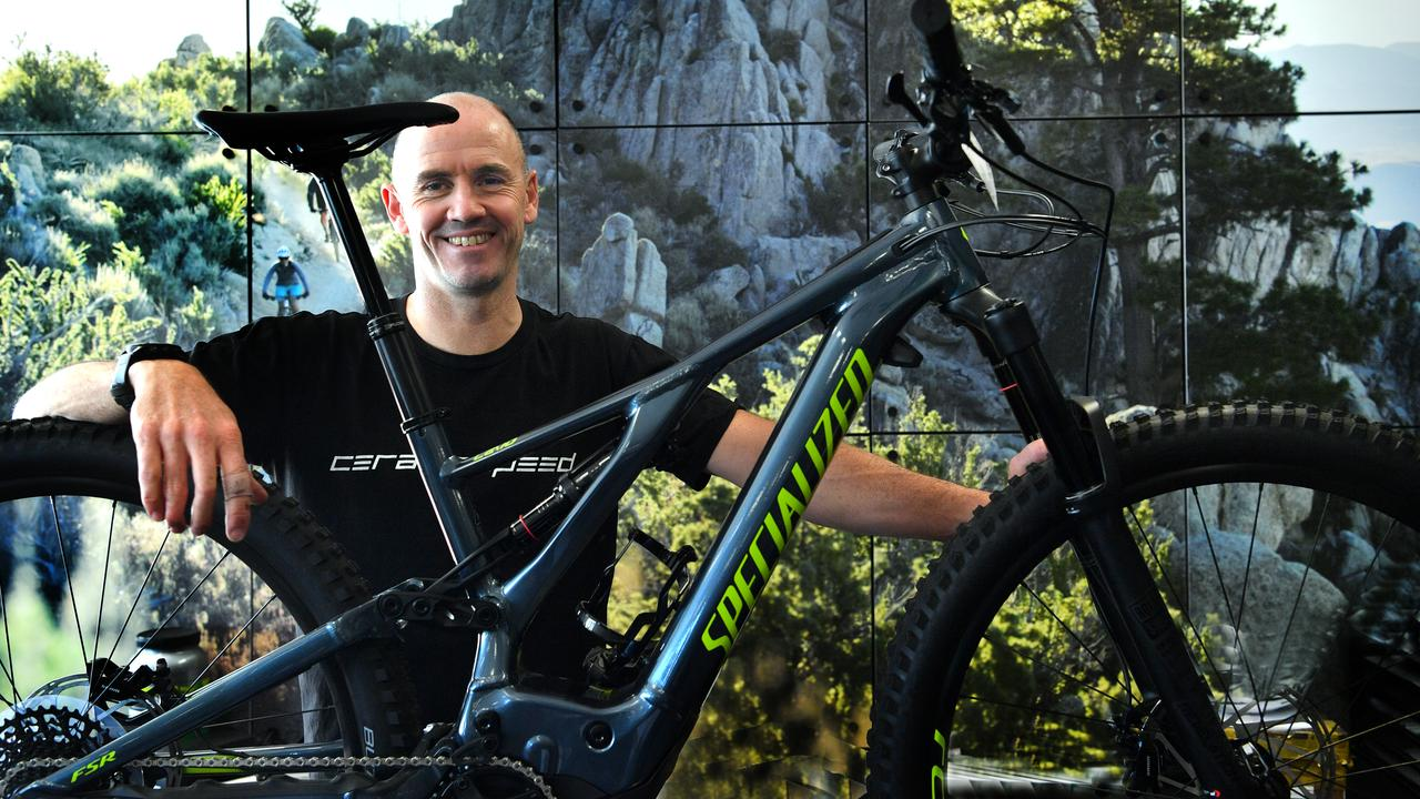 John Carey of Cycle Zone in Maroochydore with a Specialized e-bike. Picture: John McCutcheon
