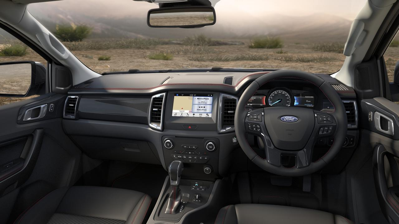Inside the 2020 Ford Ranger FX4.