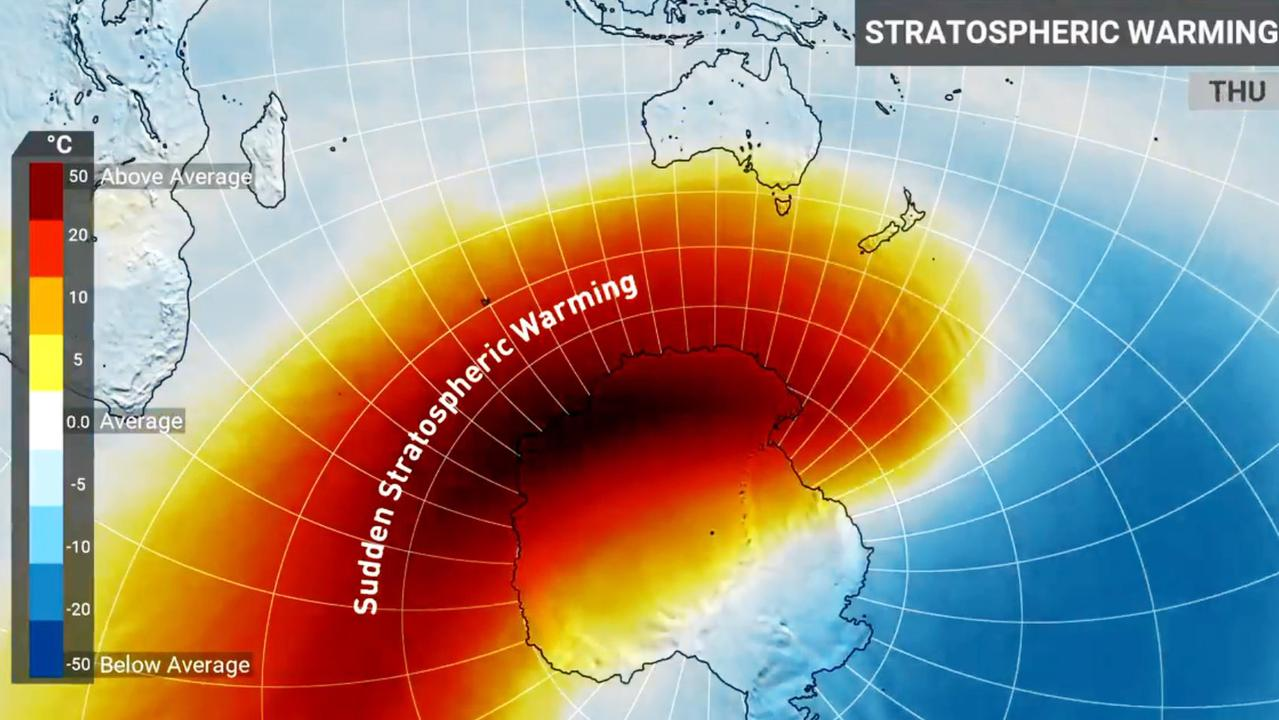 The sudden stratospheric warming event has been dubbed the