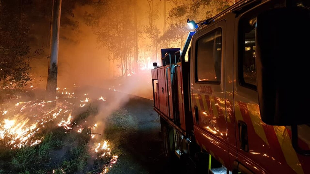 The fire at Terragon in the Tweed, near Uki and Byrrill Creek, last night. Picture: Cudgen Rural Fire Brigade