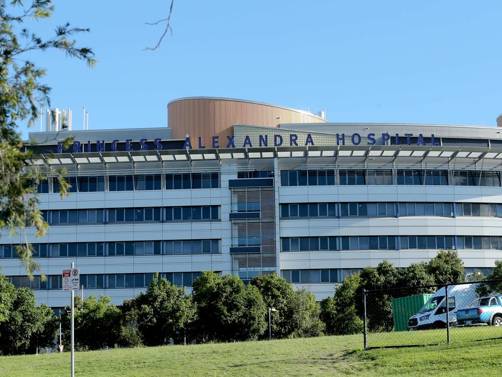 Princess Alexandra Hospital has had to cancel surgeries indefinitely. Picture: Mark Cranitch.