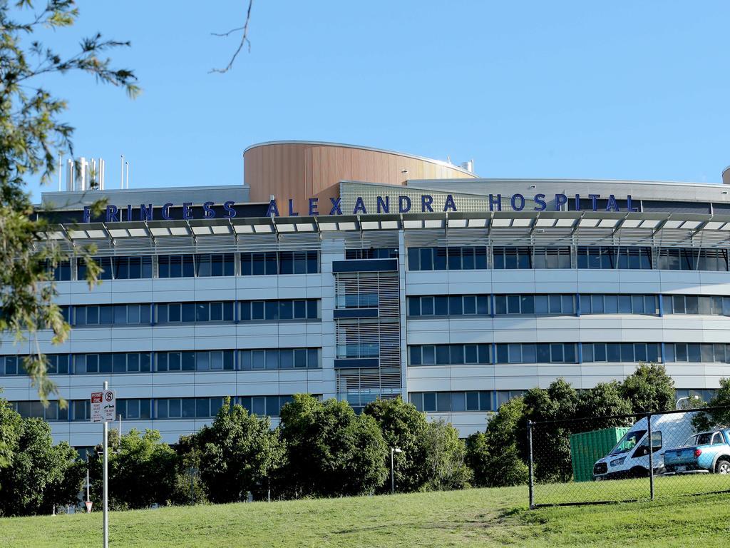 Princess Alexandra Hospital has had to cancel surgeries indefinitely. Picture: Mark Cranitch.