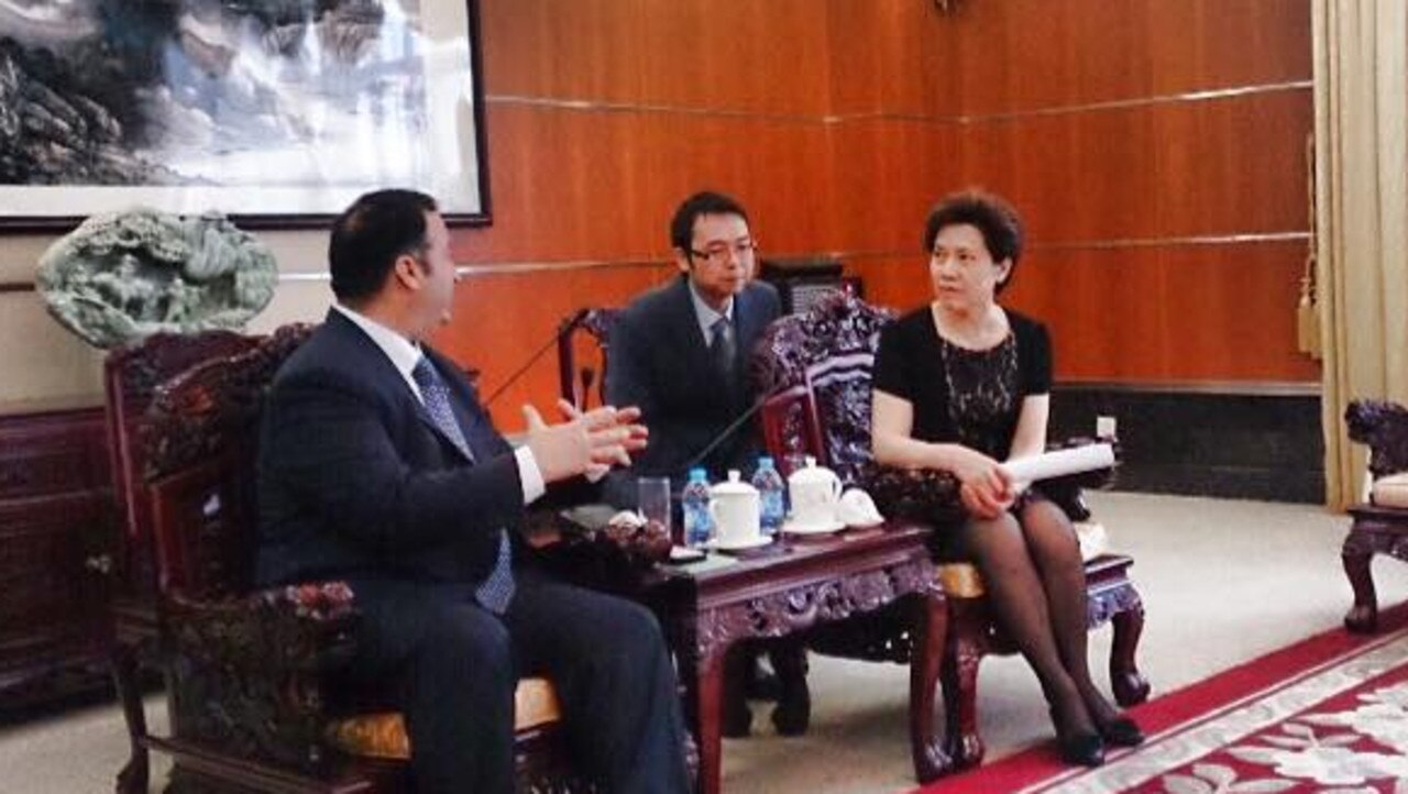 NSW MP Shaoquett Moselmane met Mrs Jie Ju in 2015 on a trip to China. She sits on the Chinese Political Consultative Conference of Songjiang, the peak body which directs the work of the Propaganda United Front Network.