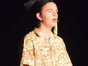 Casey Ryan acting in Chinchilla State High School's