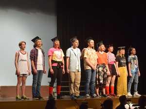 The lead actors in Chinchilla State High School's