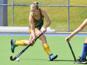 J1 girls hockey action at Buderim between Nambour and