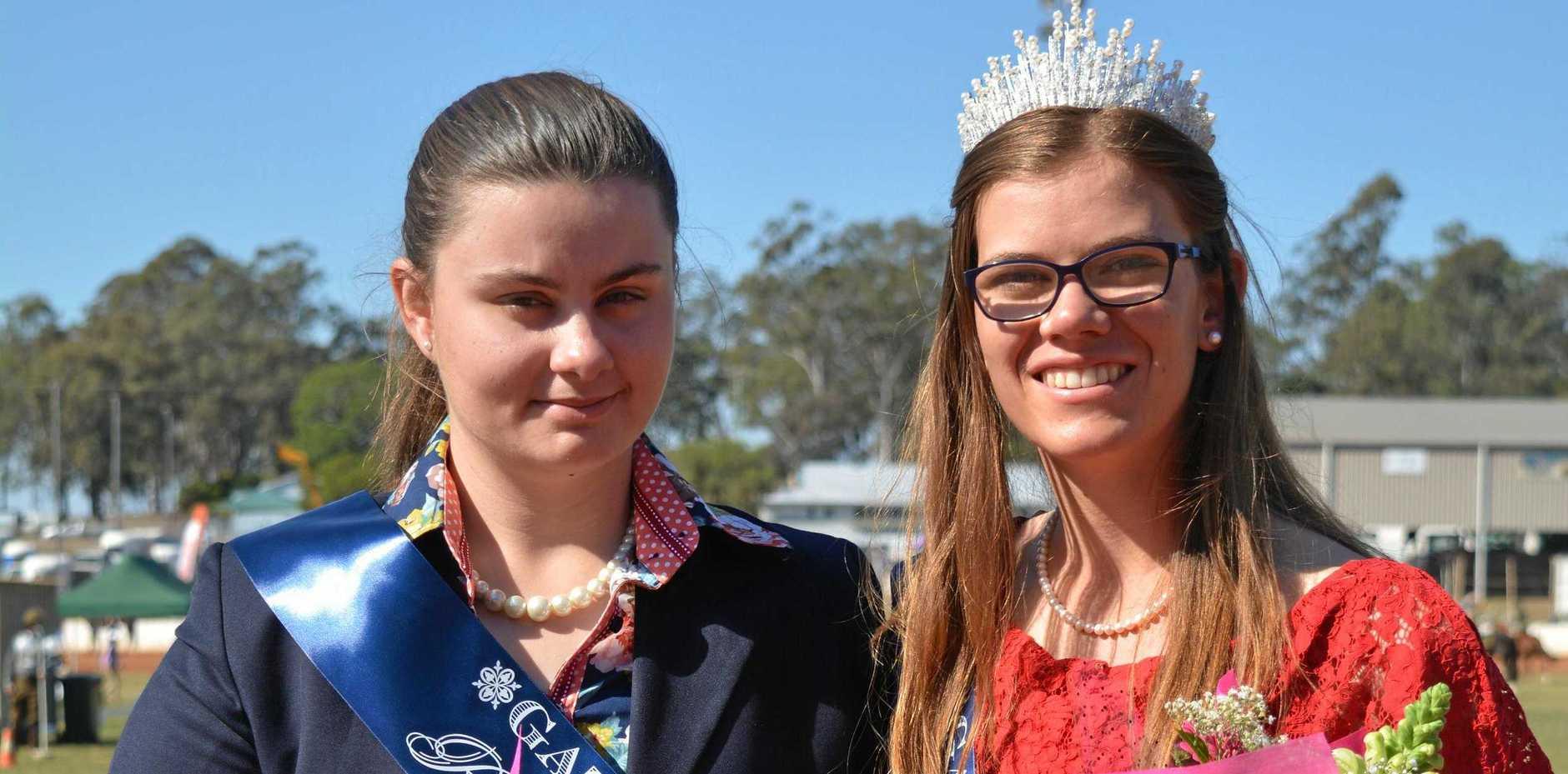 GATTON SHOW: Gatton's 2019 Rural Ambassador Tenneal Prebble and Miss Show Girl Sarah Rose.