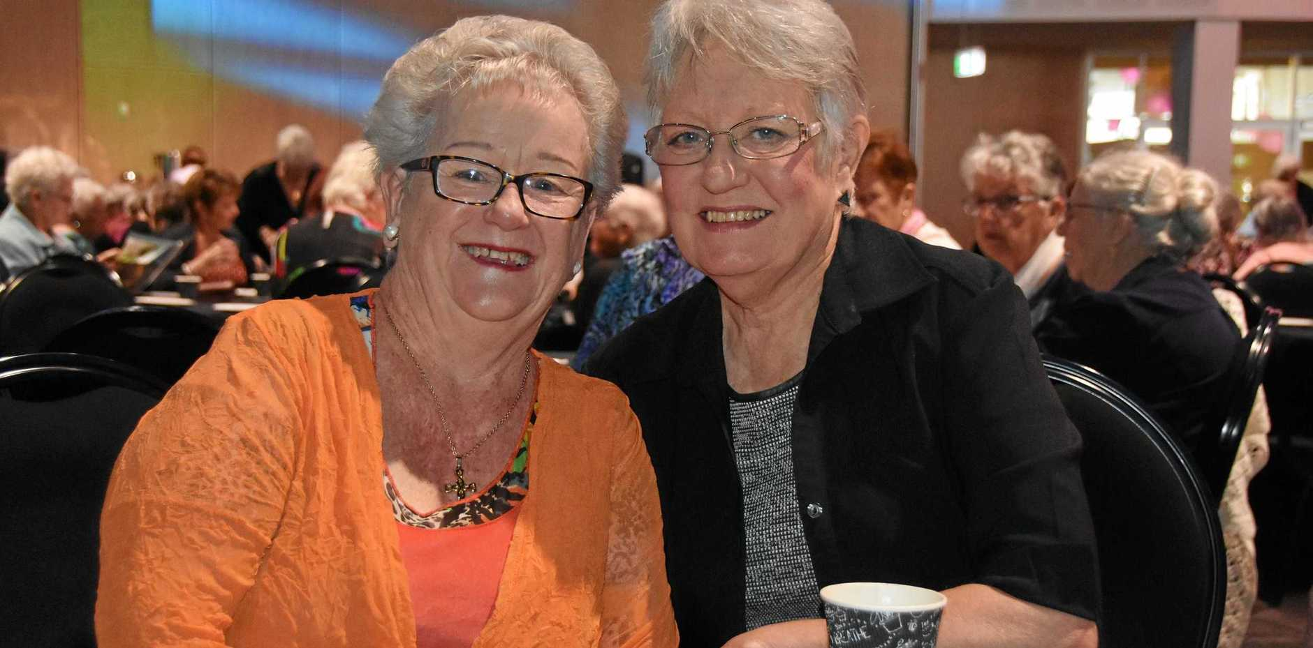 MORNING TEA: Dianne Kuhl and Shelly Holzheimer at the Gladstone Regional Council Mayor's Seniors Week morning tea