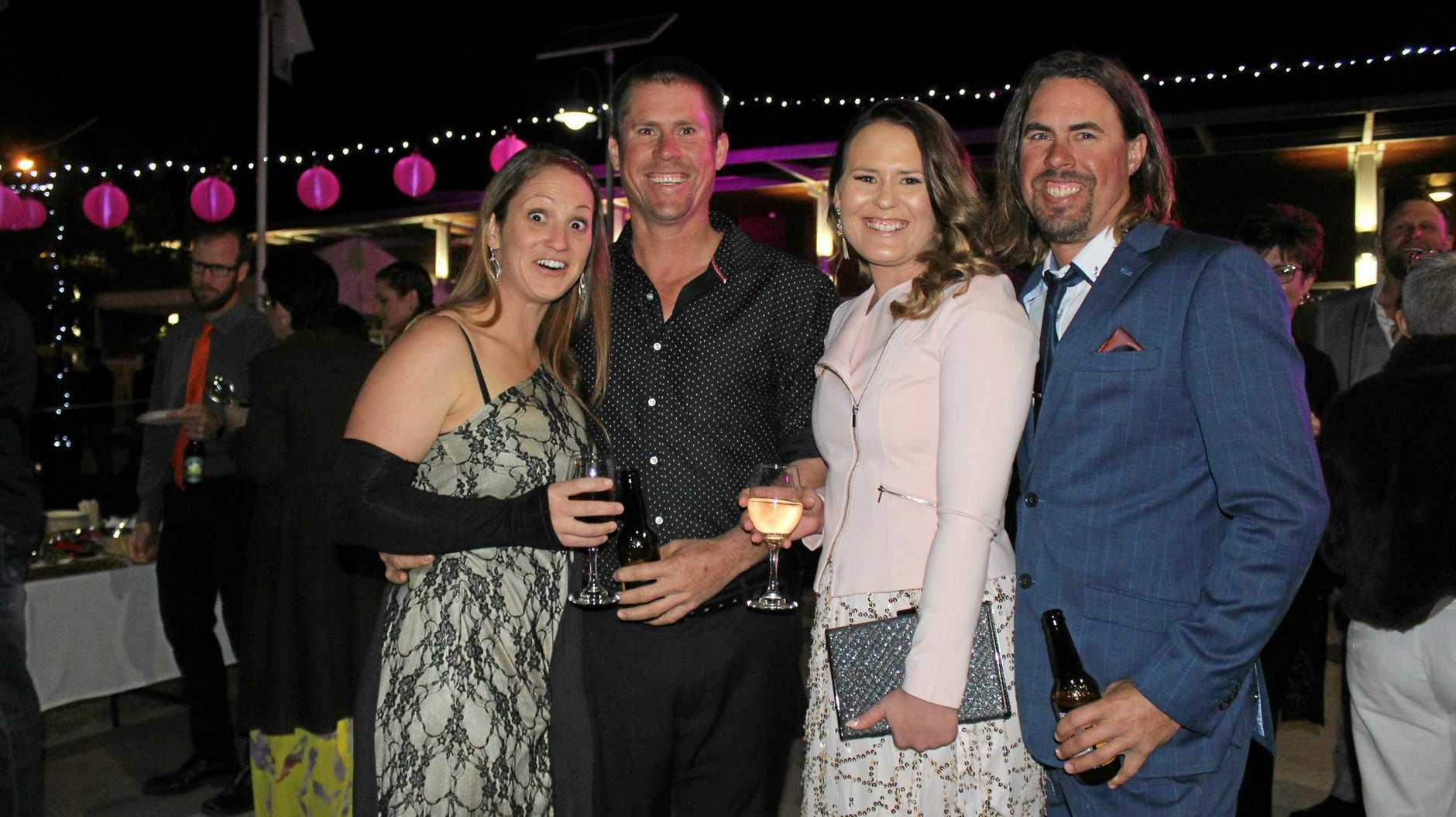 Tamara, Evan Kirstie and Wayne Schumacher at Wine and Swine 2019 as part of BaconFest.