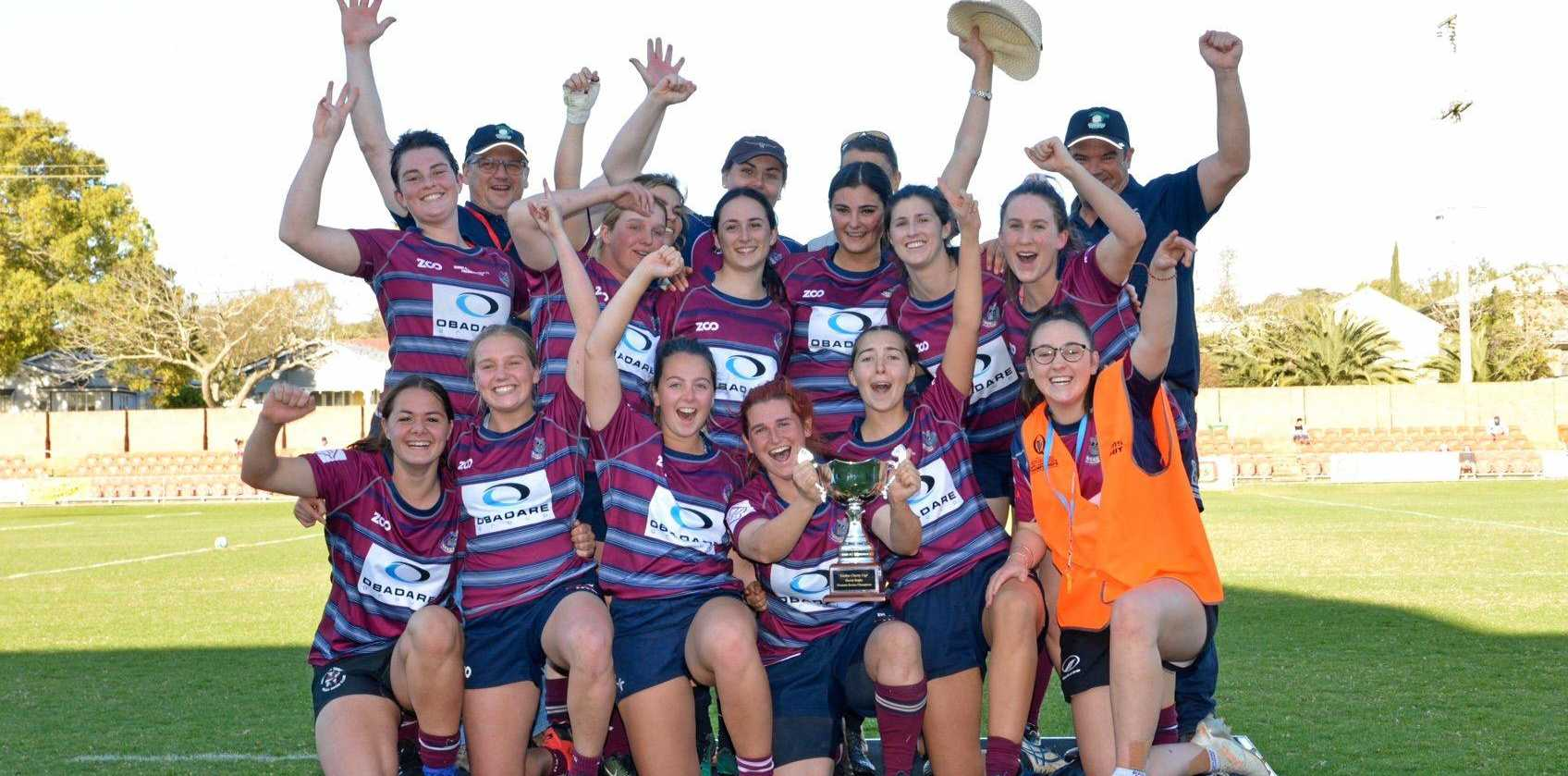 The party starts for Toowoomba Bears after their Emilee Cherry Cup grand-final win today over St George at Clive Berghofer Stadium.