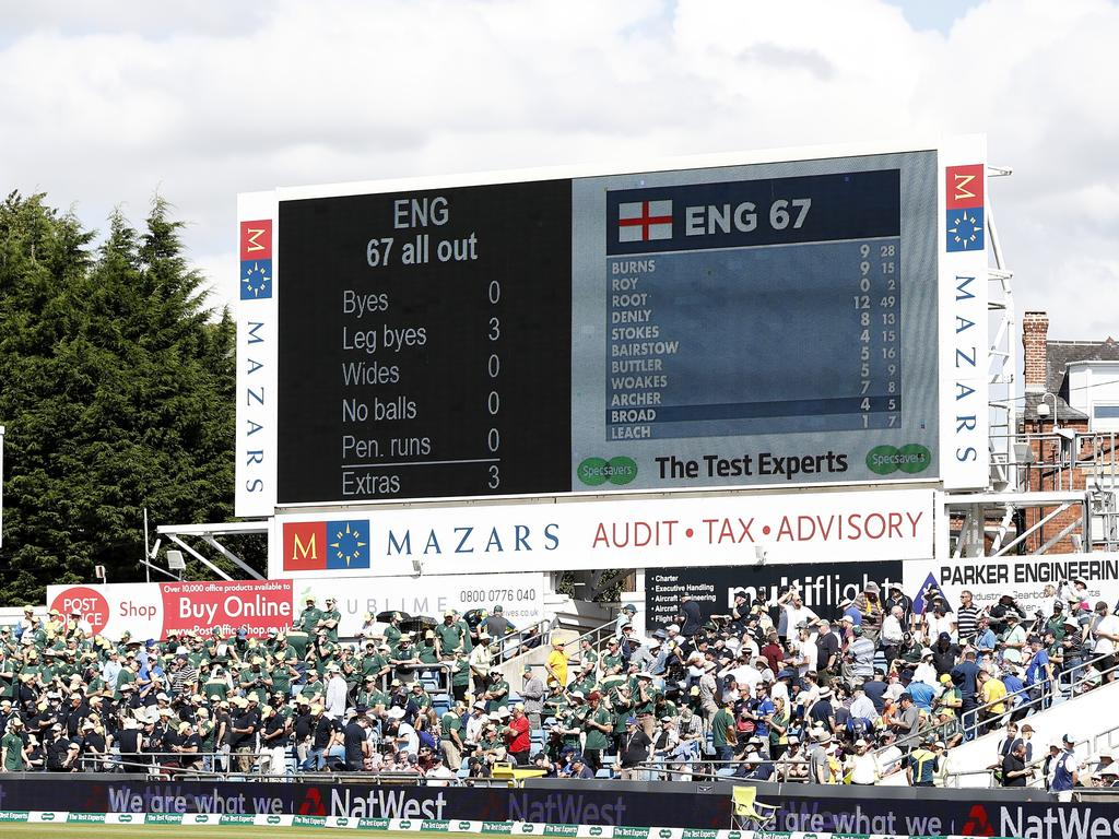 The scoreboard said it all. Picture: Ryan Pierse/Getty Images.