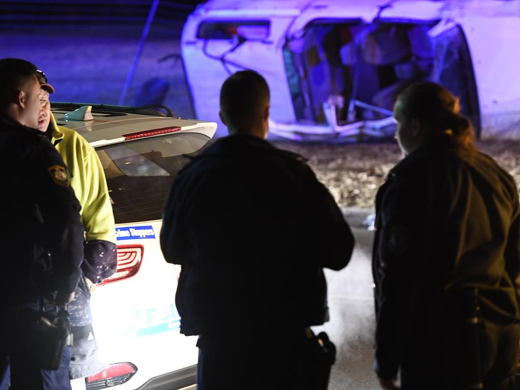Police allege two people ran from the scene and three teens were taken to hospital. Picture: Gordon McComiskie