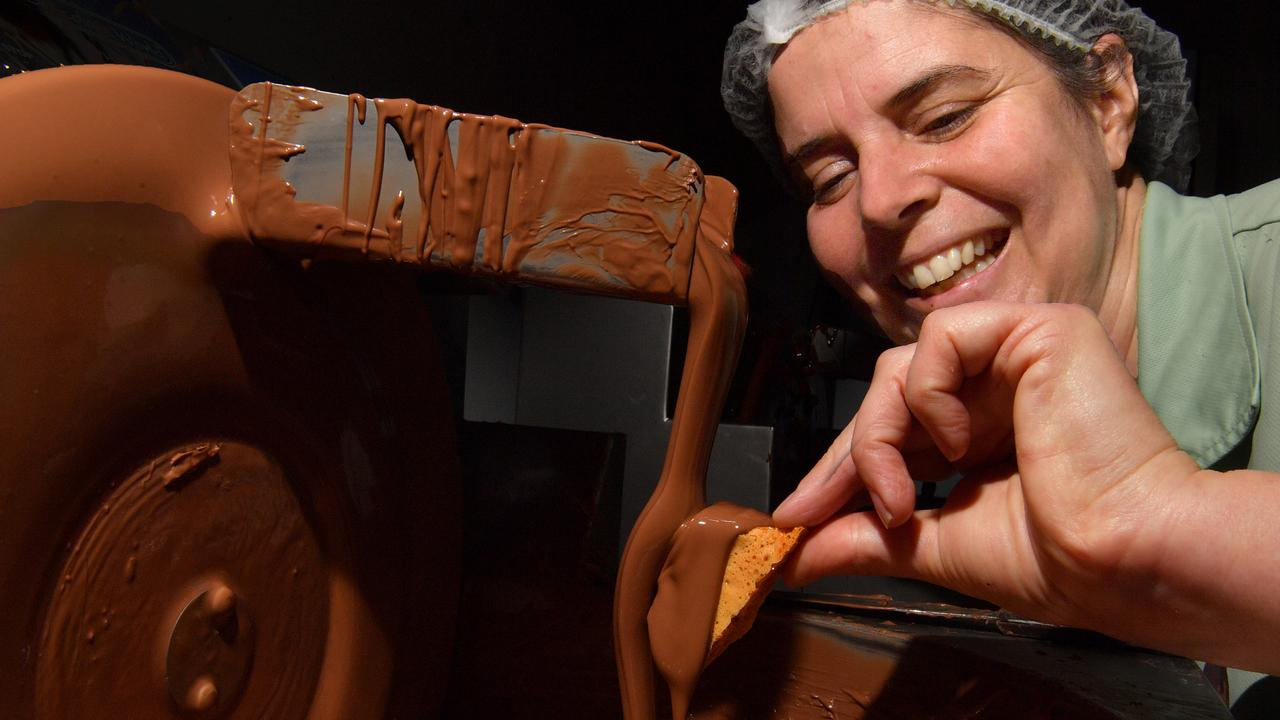 HONEYCOMB HEAVEN: Julie Walters of Chocolate Country Montville has taken her business into the world of wholesale. Photo: John McCutcheon