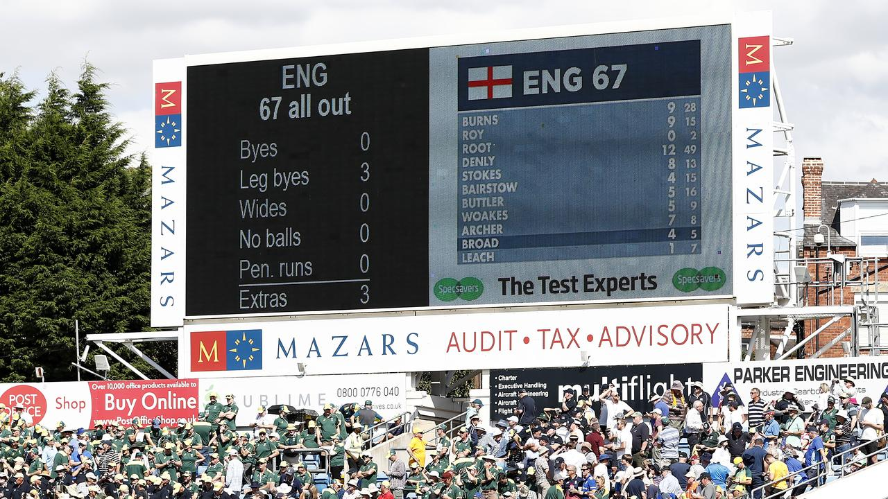 The Headingley scoreboard made for enjoyable reading for Australian players and fans.