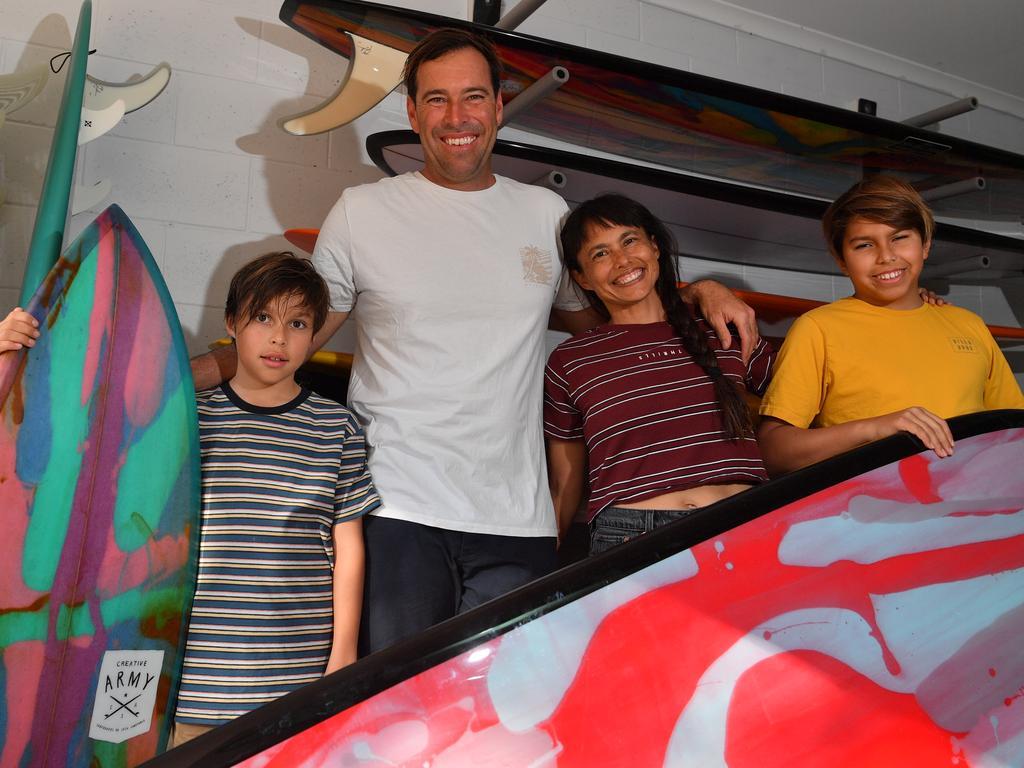 Josh, Anna, Jet and Jive Constable at home on the Sunshine Coast. Photo: John McCutcheon / Sunshine Coast Daily