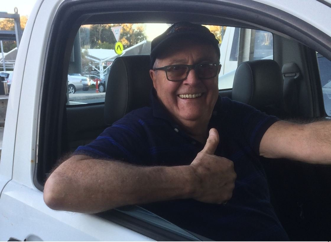 Victorian tourist Alan Wickes was thrilled when a Marcoola resident, who he had just met, let him borrow his ute to go get some groceries.