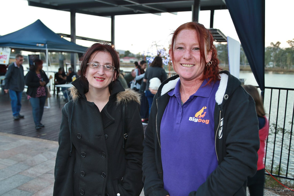 Image for sale: L-R Laura Dailey and Jennifer Conroy at the Cultural Festival.